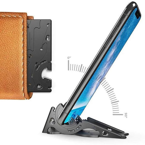 Image of Stabilize Foldable Phone Holder Card Type Portable Rotation Convenient Home Stable Universal Pocket Tripod Adjustable Support