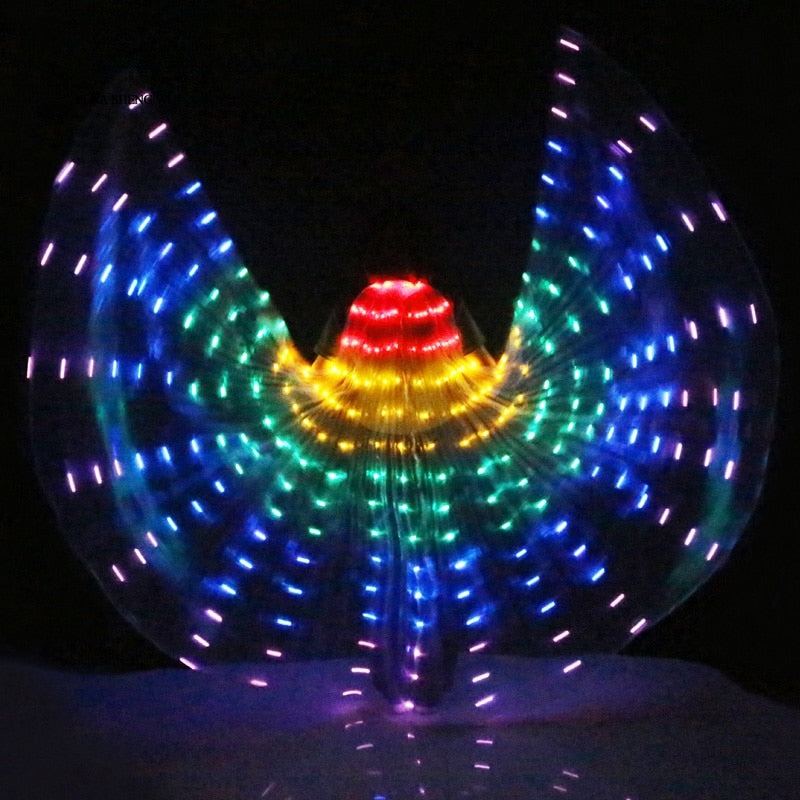 Rainbow Runner - LED Butterfly Dance Wings