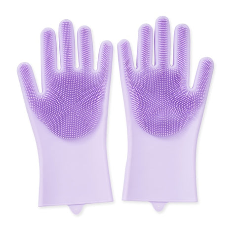 Image of Magic Silicone Heat Resist Cleaning Gloves