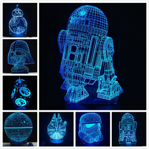 NEW 3D Star Wars LED Table Night Light