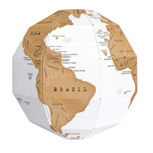 DIY World Map 3D Scratch  Travel Globe