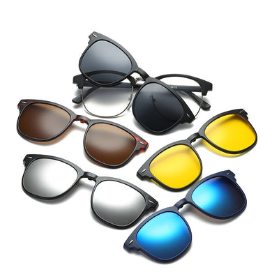5 in 1 swappable lens sunglasses