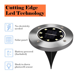 Outdoor Solar Ground Light disk