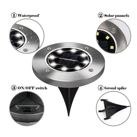Image of Outdoor Solar Ground Light disk