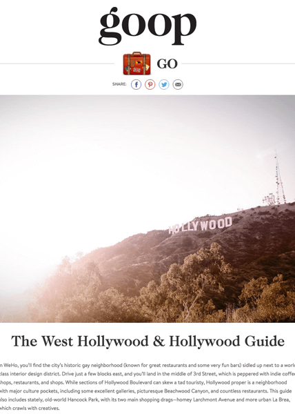 Goop Hollywood