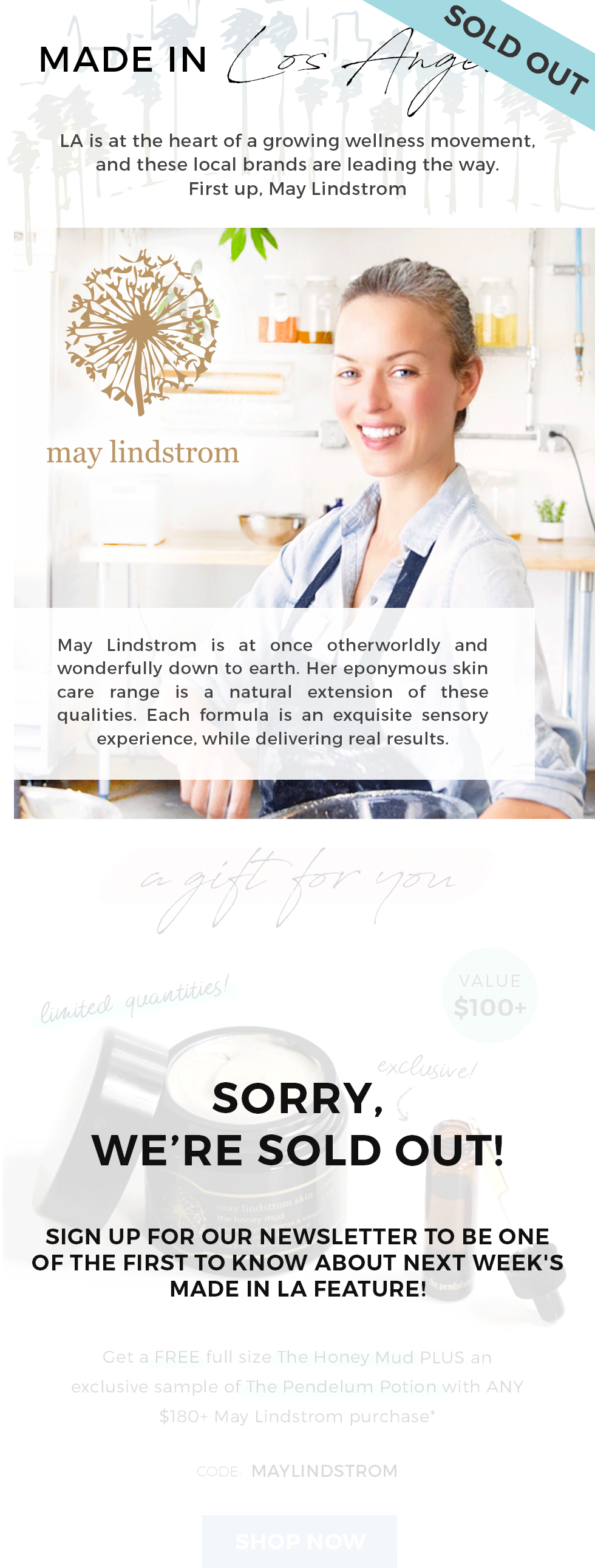 Made in LA: May Lindstrom Gift with Purchase