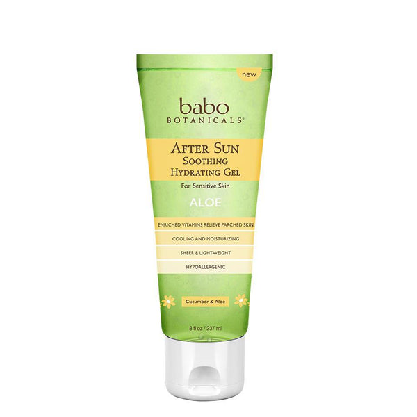 Babo Botanicals After Sun Soothing Hydrating Aloe Gel 8 oz