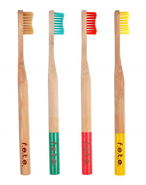 Bamboo Toothbrush - Pack of 4 Soft