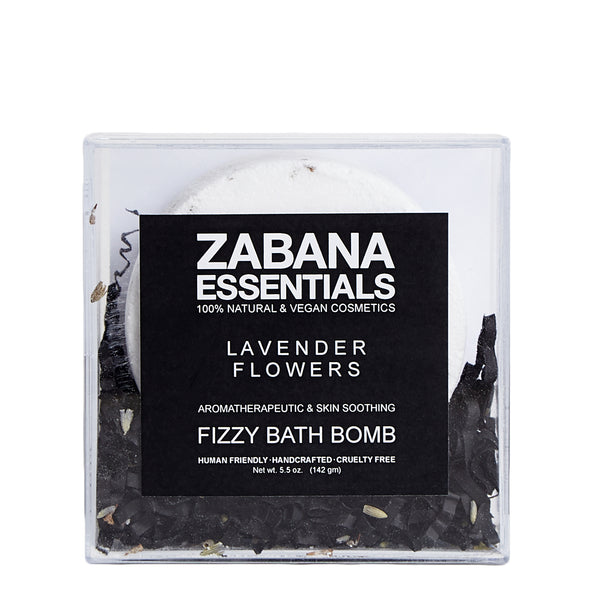 Zabana Essentials Fizzy Bath Bomb Lavender Flowers