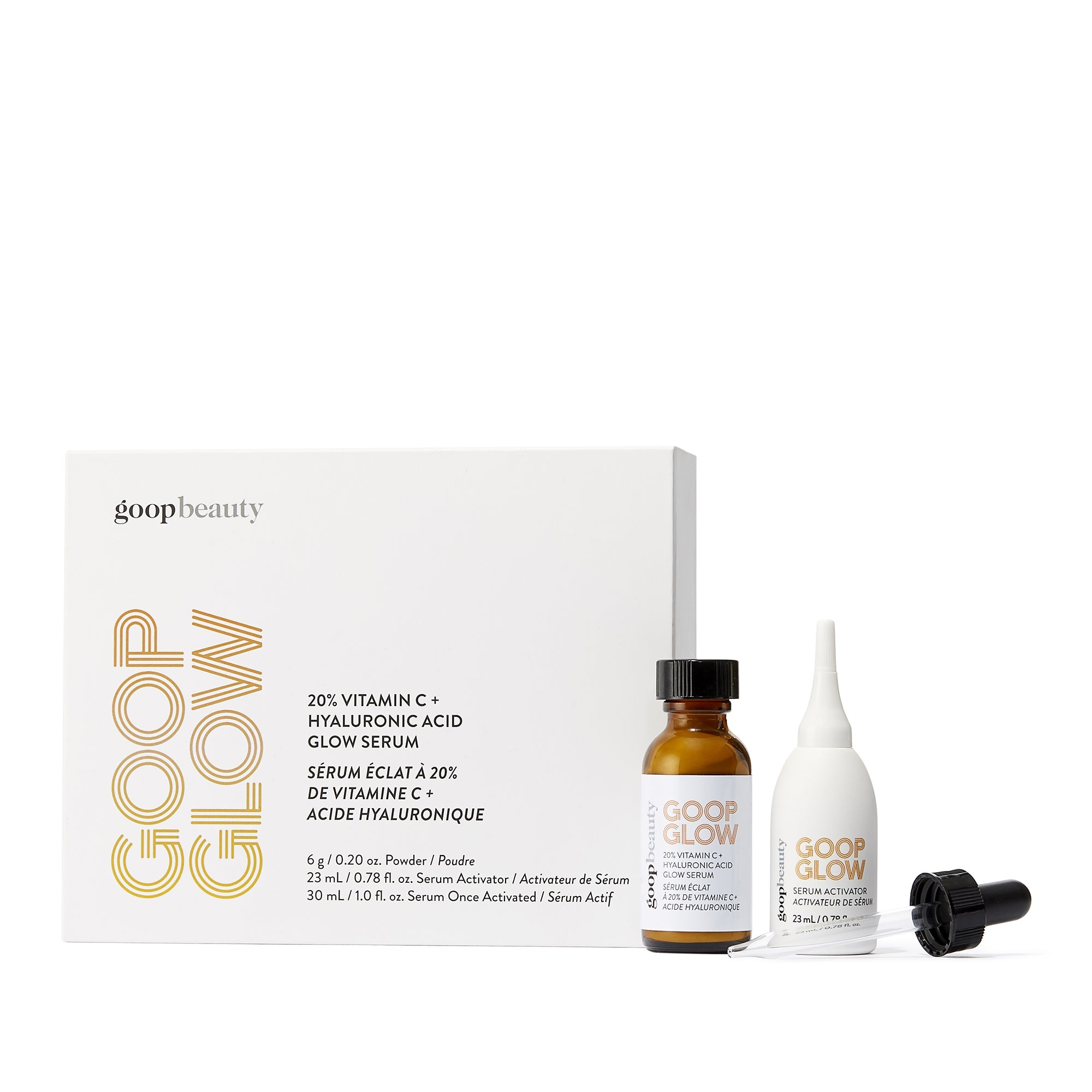 GOOPGLOW 20% Vitamin C + Hyaluronic Acid Glow Serum