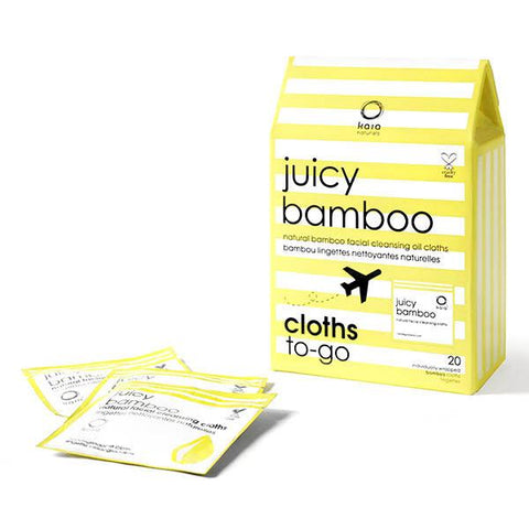 Juicy Bamboo Cloths To Go - 20 individually wrapped cloths