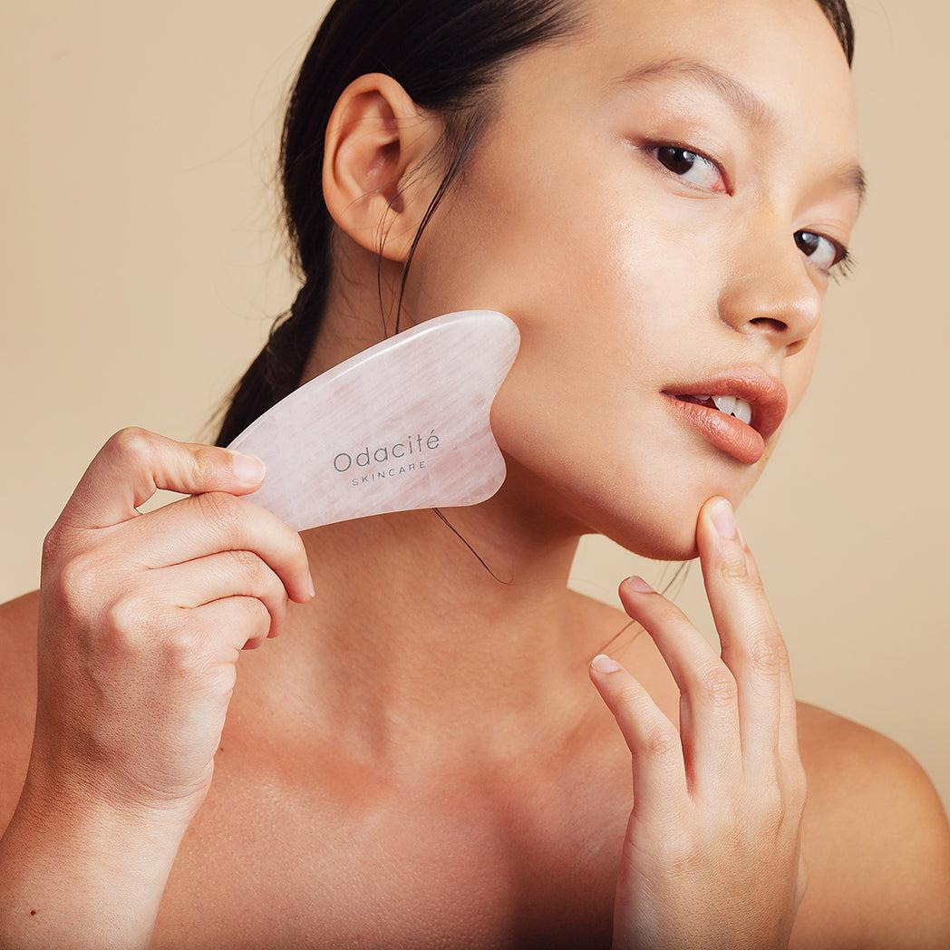 Crystal Contour Gua Sha Rose Quartz