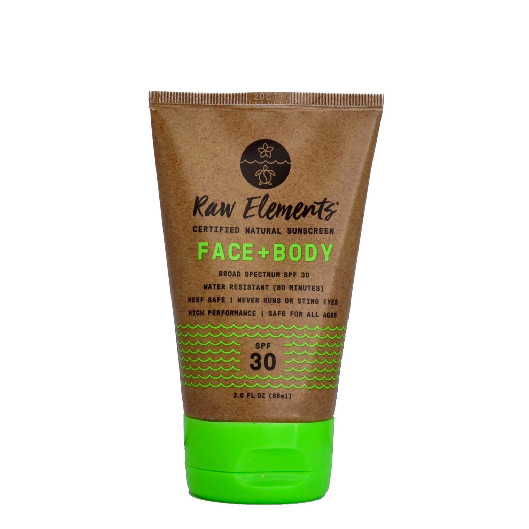 Raw Elements Face and Body 30 Plus Tube
