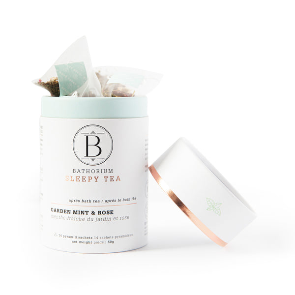 Après Bath Sleepy Time Pyramid Bagged Tea: Garden Mint & Rose