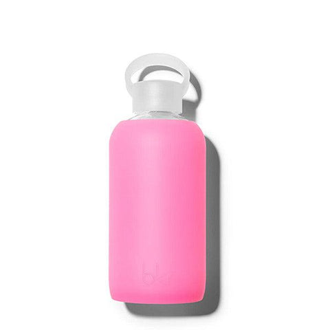 bkr 500mL Glass Water Bottle Bambi (Sheer Neon Pink)