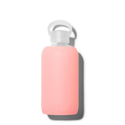 bkr 500mL Glass Water Bottle Gloss (Sheer Perfect Pink-Peach)