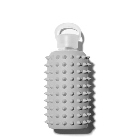 bkr 1L Glass Water Bottle Spiked London (Opaque Cool Light Grey)