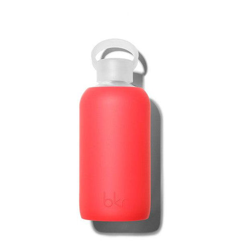 bkr 500mL Glass Water Bottle Madly (Sheer Fiery Red)