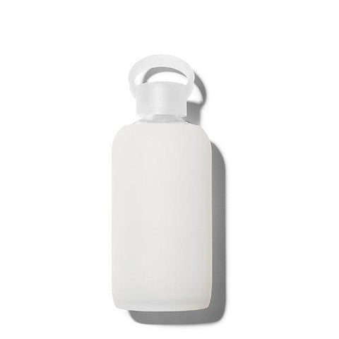 bkr 500mL Glass Water Bottle Milk (Sheer White)