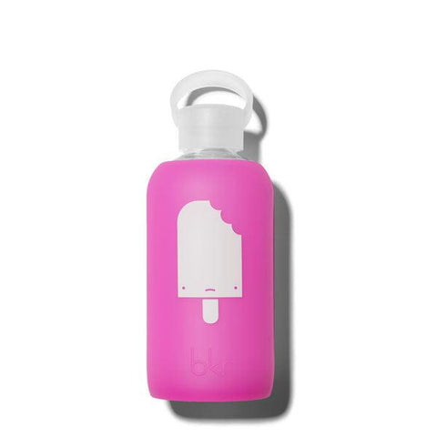 bkr Popsicle Baby 500ml Water Bottle (sheer fuchsia with white popsicle)
