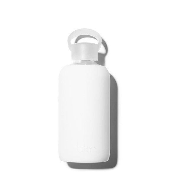 bkr 500mL Glass Water Bottle Winter (Opaque White)