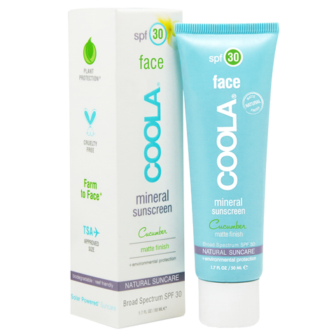 Coola SPF 30 Mineral Sunscreen Cucumber Matte Finish