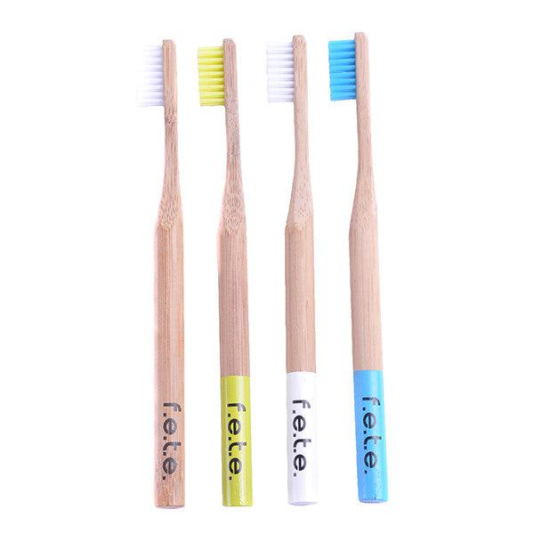 Bamboo Toothbrush - Blue Medium