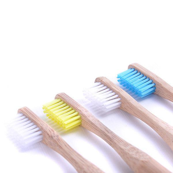 Bamboo Toothbrush - Pack of 4 Medium