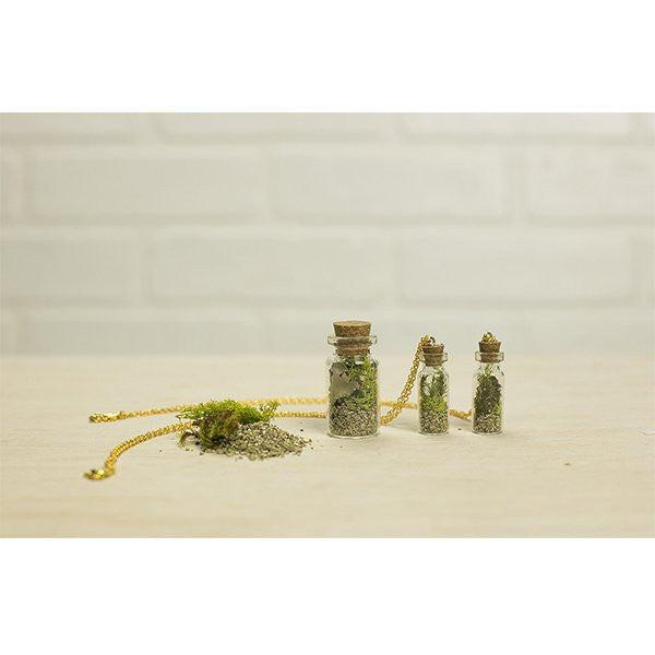 Makers Kit 18k Gold-Filled Vial Terrarium Necklace Kit
