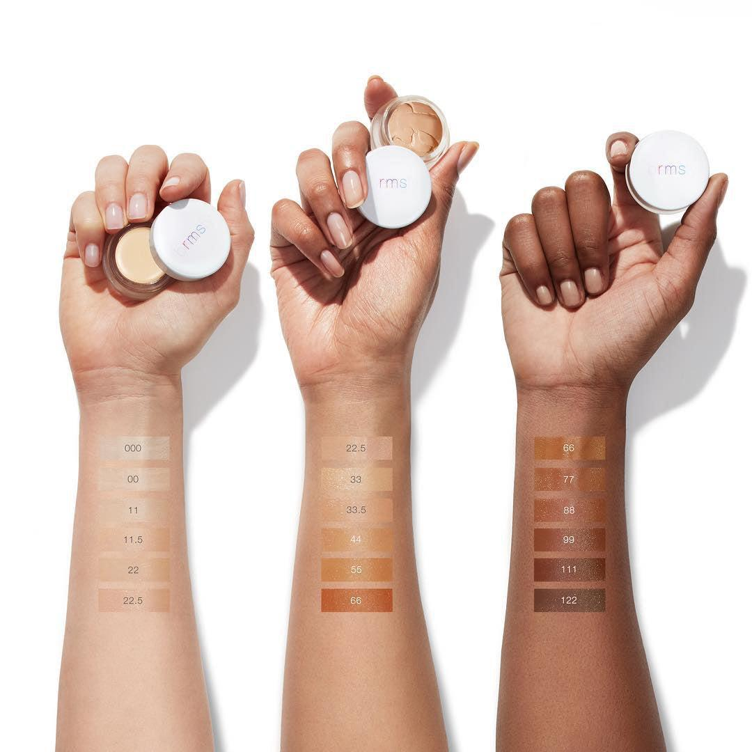 rms beauty uncover up concealer swatches