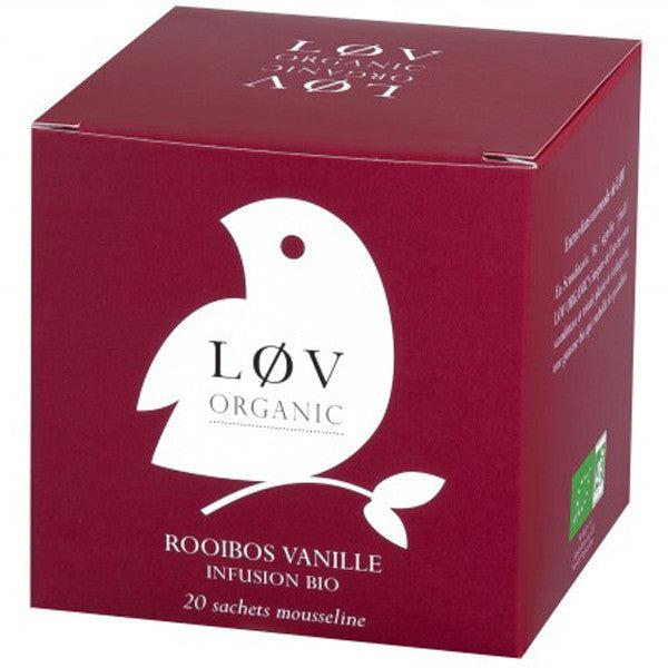 Lov Organic Vanilla Rooibos Herbal Tea Bags