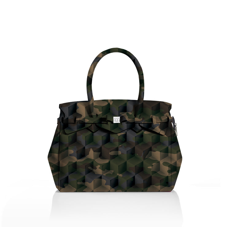 Miss Plus Stampata - camouflage green