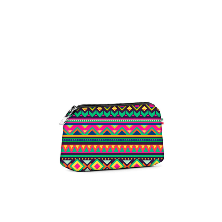 Travel Pouch Small Stampata Aztec