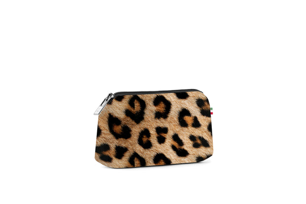 Travel Pouch Small Stampata Leopard