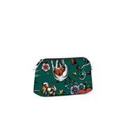 Travel Pouch Small Stampata Tattoo Verdone