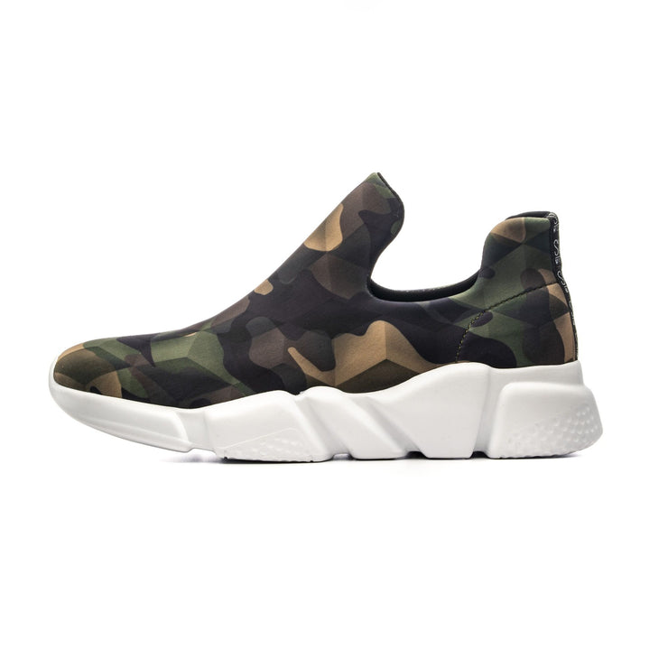 Sneakers Camouflage Green - side left full