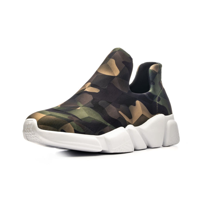 Sneakers Camouflage Green - side left