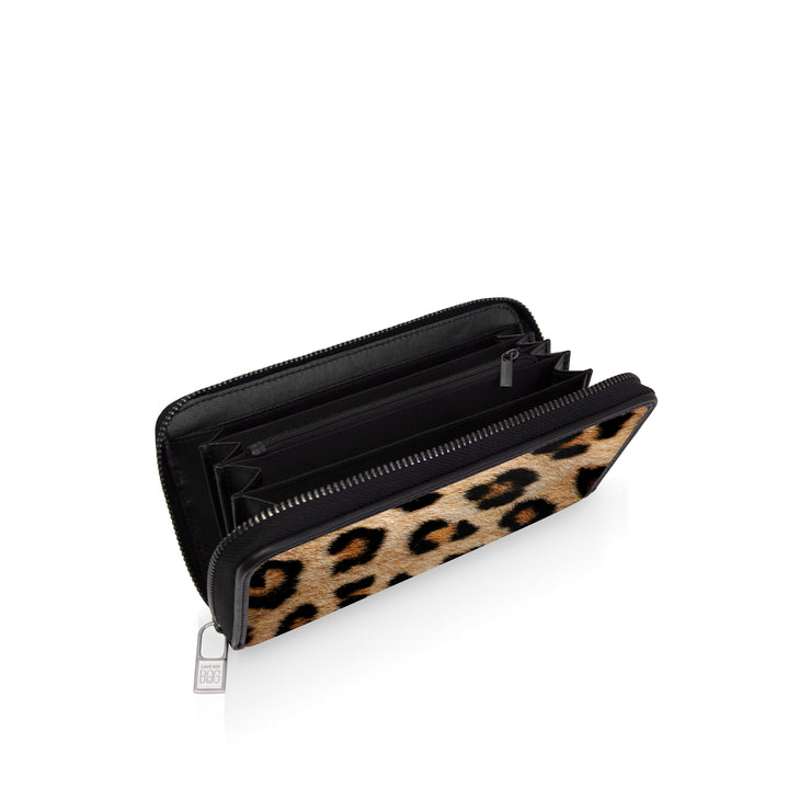 Save My Bag Pouch-Wallet Printed Leopard inside side view