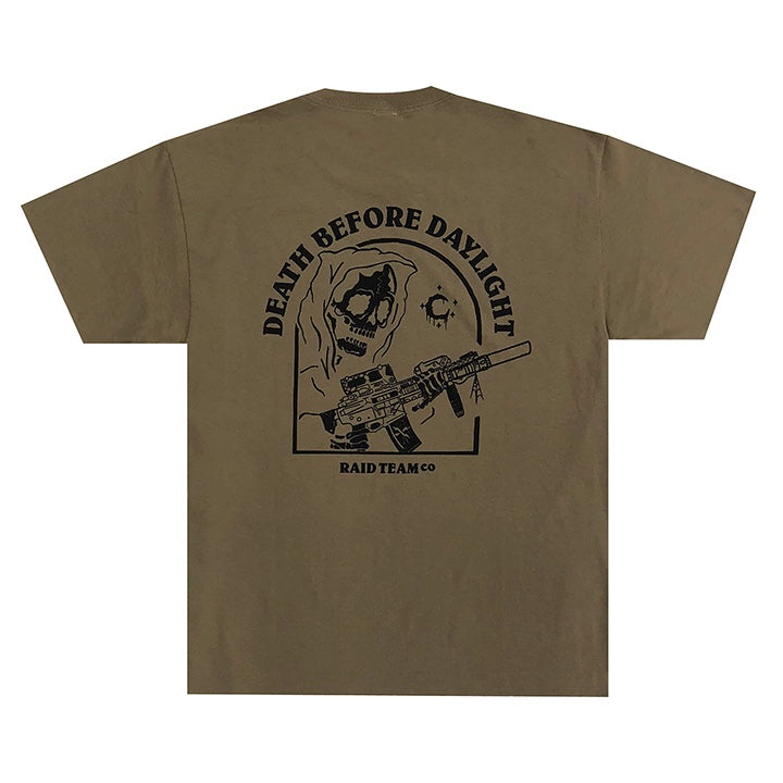 DEATH BEFORE DAYLIGHT TEE - TAN
