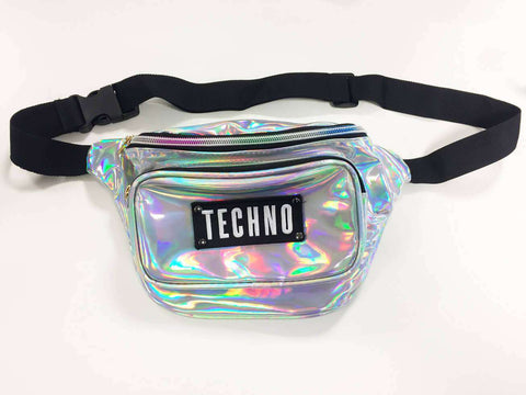Silver Techno Waist Bag