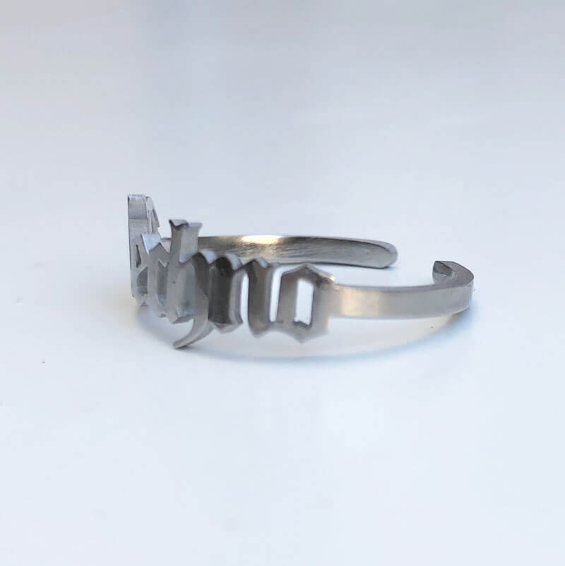 Techno Stainless Steel Ring