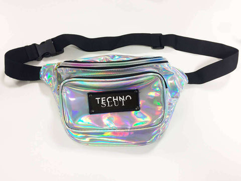 Silver Techno Slut Waist Bag