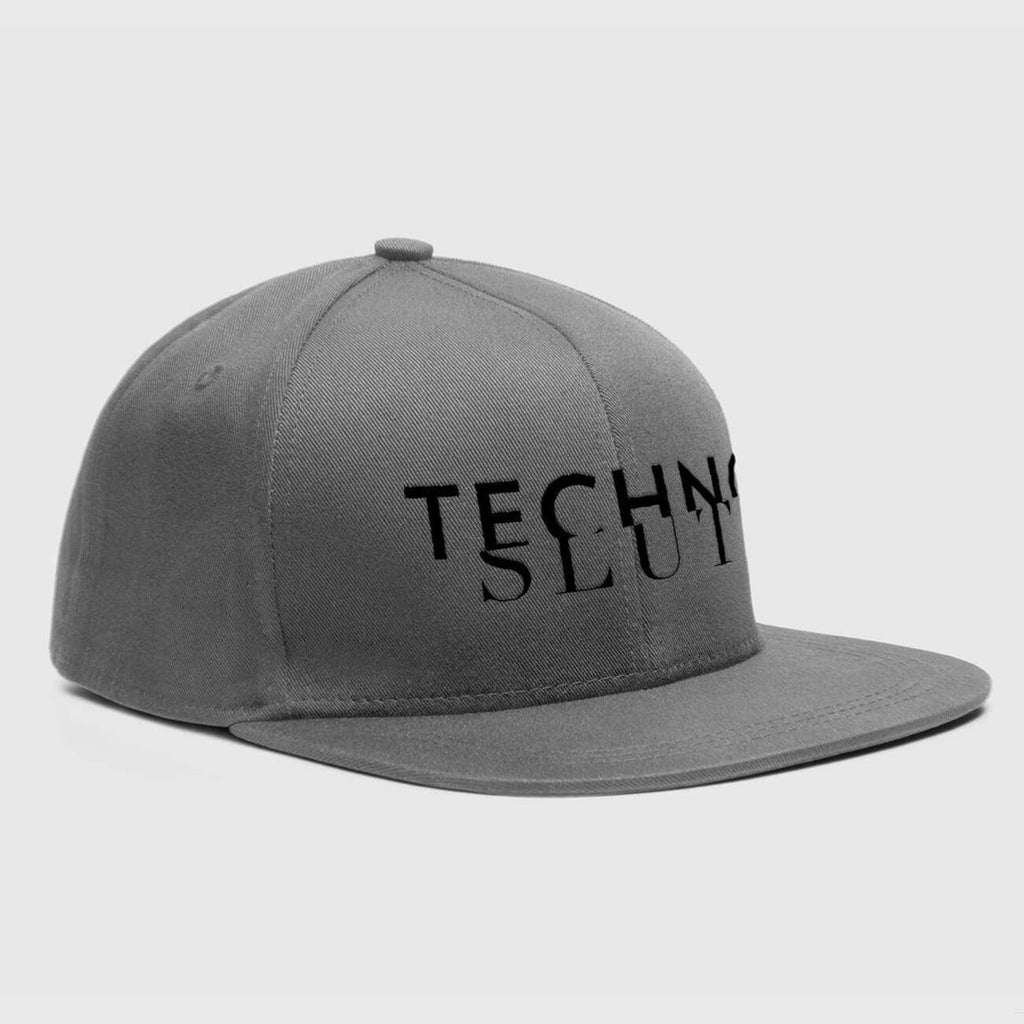 Techno Slut Grey Snapback Hat