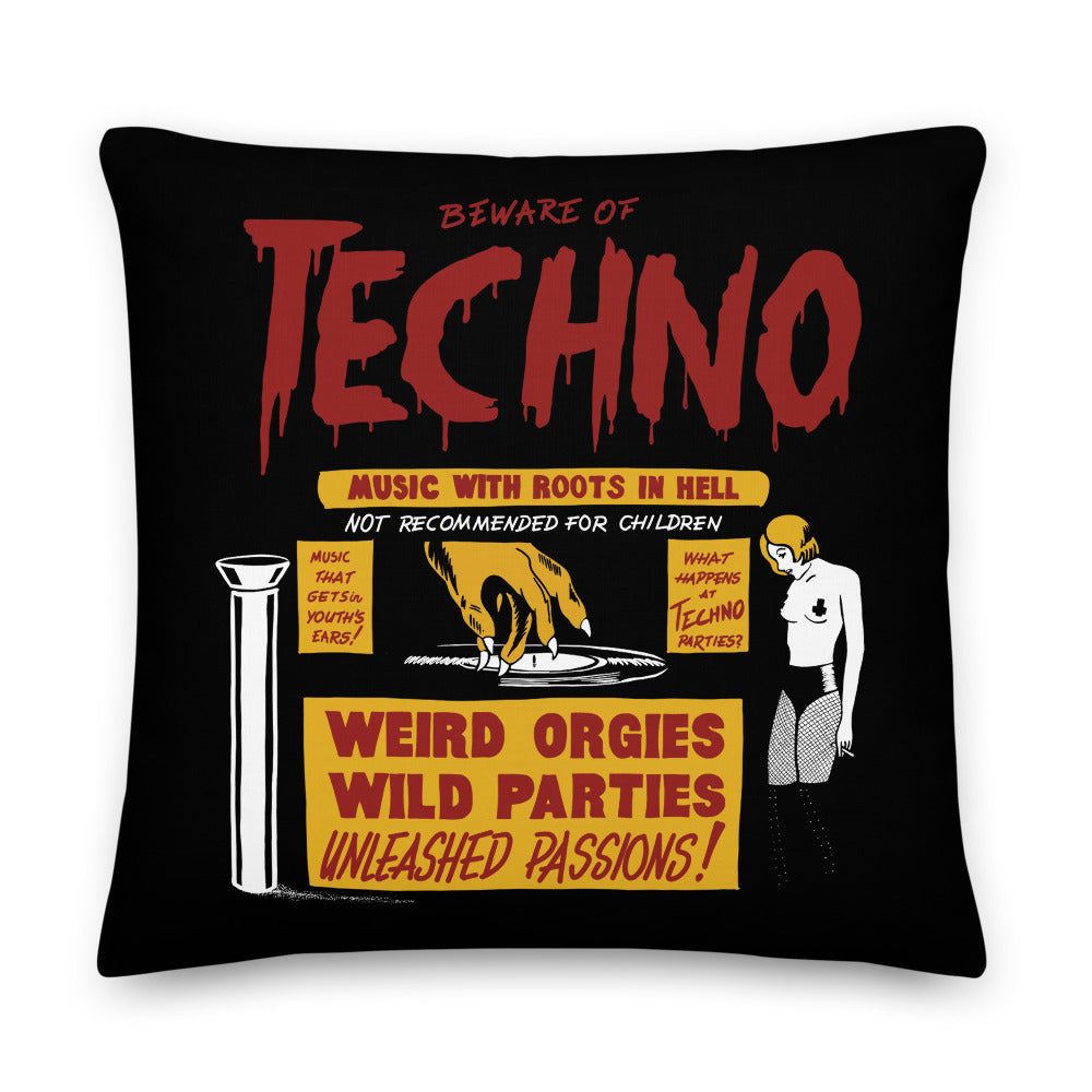 Beware of Techno Premium Pillow