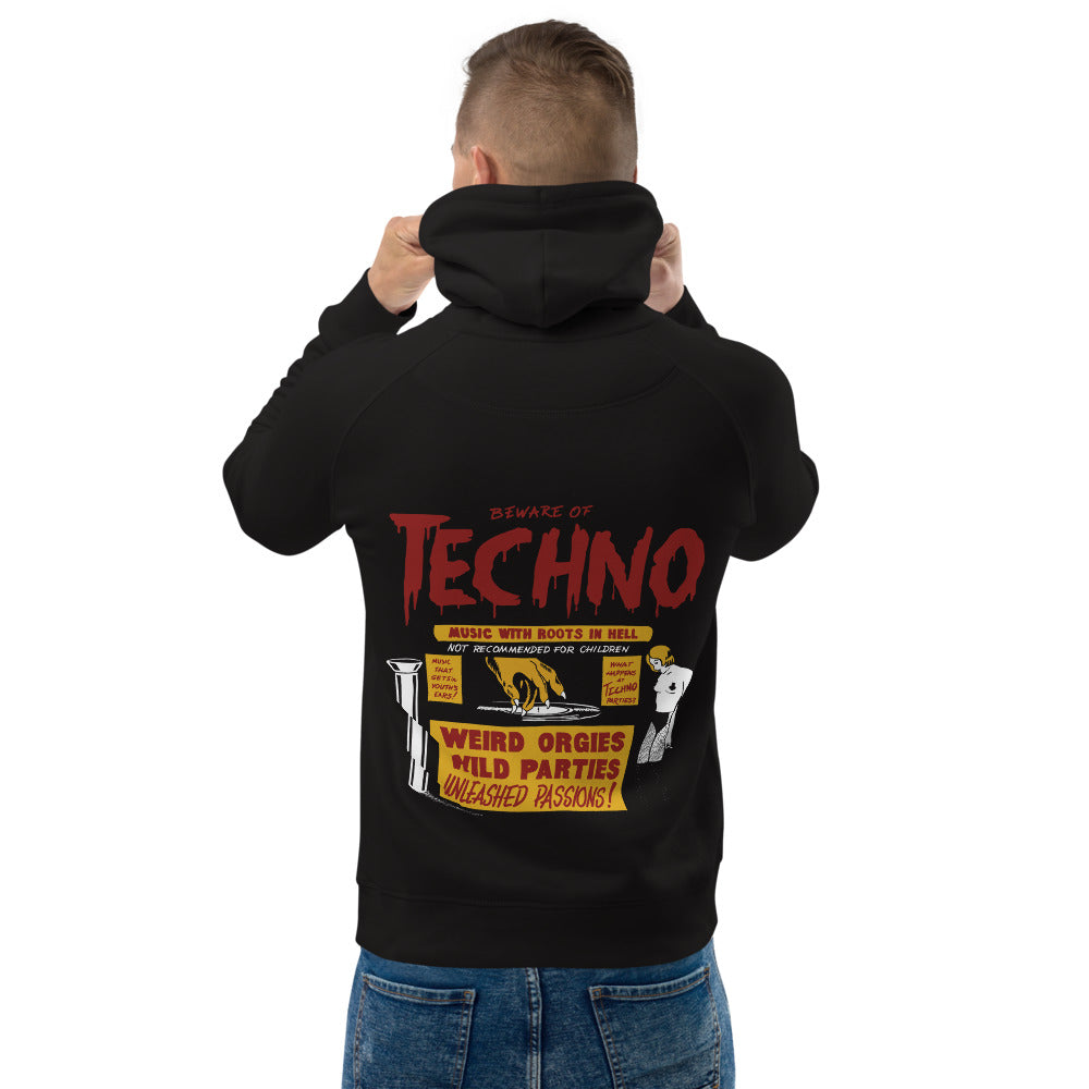 Beware of Techno pullover hoodie