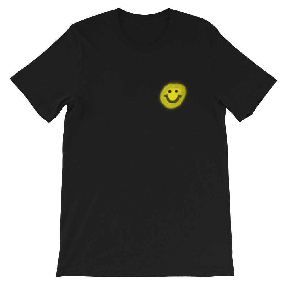 Rave is Not a Crime Graffiti T-Shirt (Smiley front)