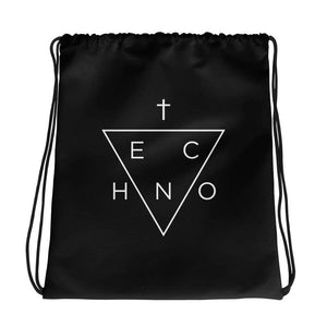 Techno Triangle Drawstring bag