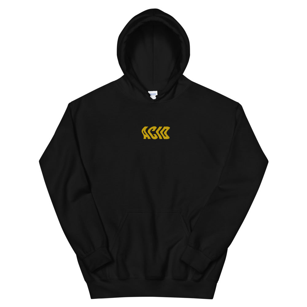 Acid Wave Embroidered Hoodie