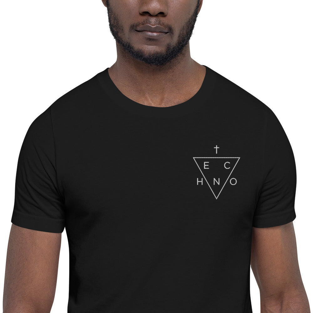 Techno Triangle Embroidered T-Shirt