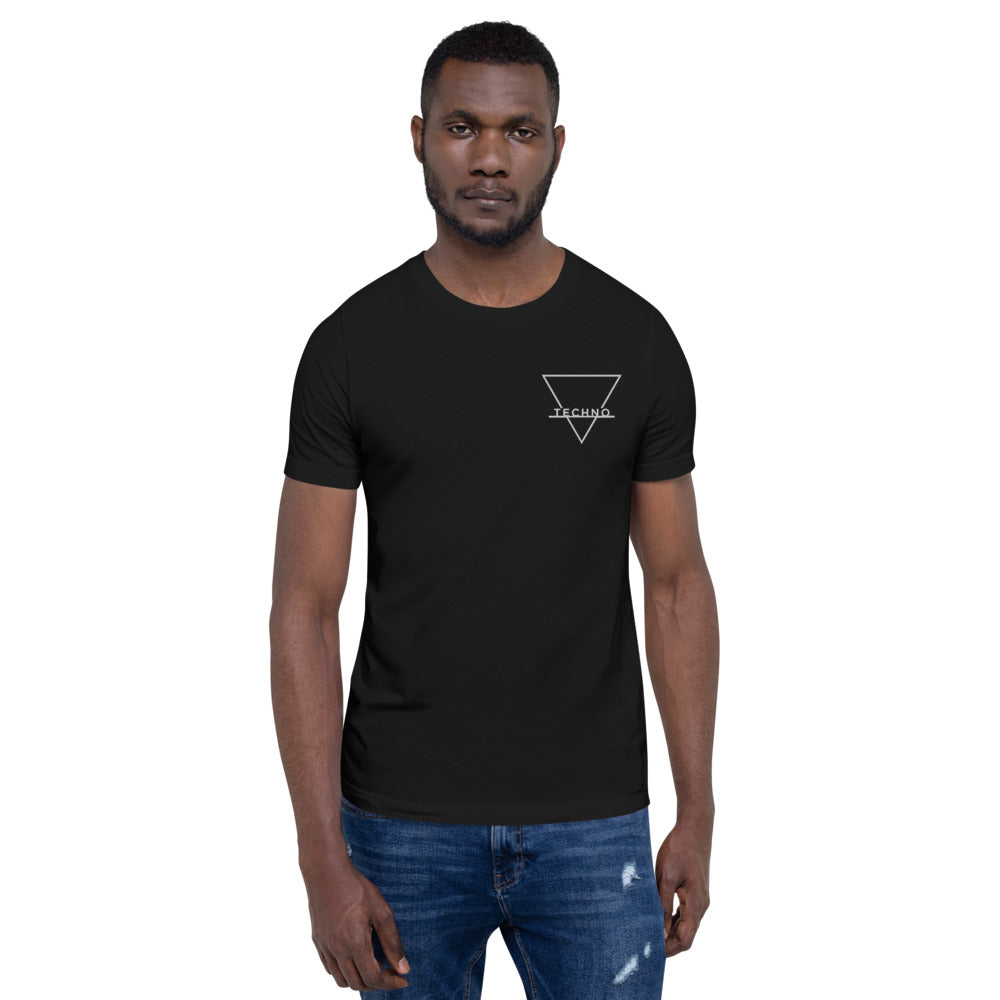 Techno Minimal Embroidered T-Shirt